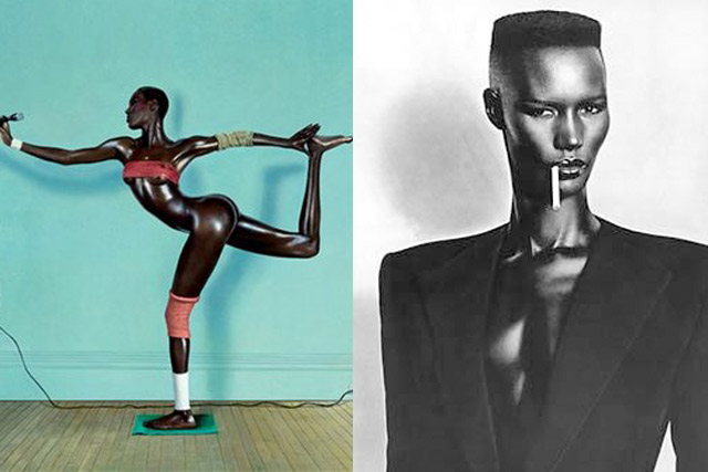 Grace Jones body and face