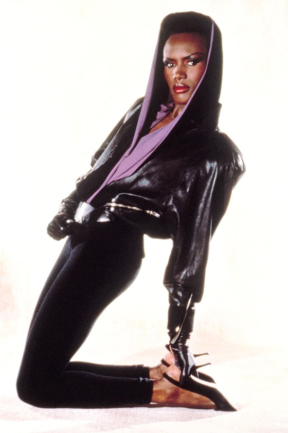 Grace Jones black leggings
